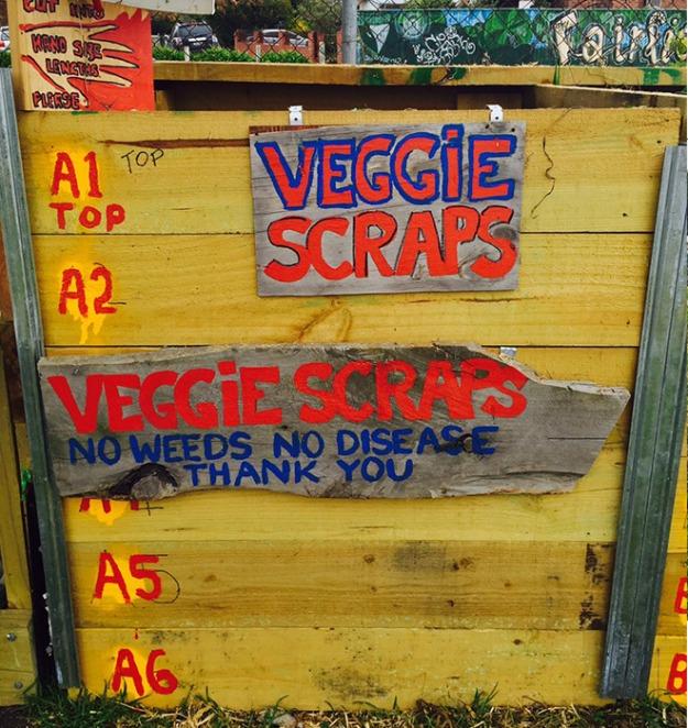 Waste Veg Material Bay - Fairfield Community Garden